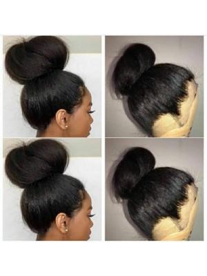 Magic Love Hair 360 Wig Yaki Straight Pre Plucked Natural Color Human Hair wigs(MAGIC0156)