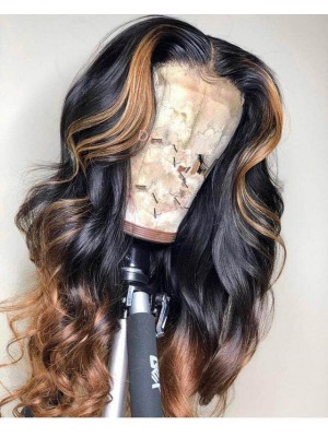 Magic Love Human Virgin Hair Ombre Honey Blonde Pre Plucked Lace Front Wig And Full Lace Wig For Black Woman Free Shipping (MAGIC0179)