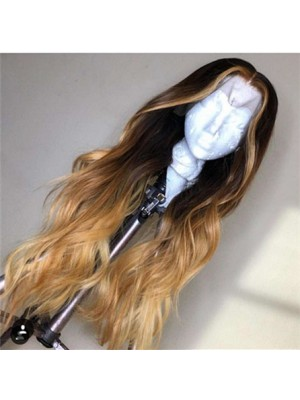 Magic Love Human Virgin Hair Ombre Wave Pre Plucked Lace Front Wig And Full Lace Wig For Black Woman Free Shipping (MAGIC0143)