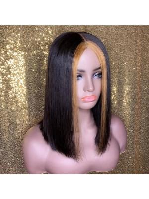 Magic Love Human Unprocessed Human Virgin Pre Plucked Ombre Bob Lace Wigs (magic0123)