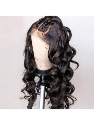 Magic Love Human Virgin Hair Loose Wave Pre Plucked Lace Front Wig & Full Lace Wig For Black Woman Free Shipping(Magic0148)
