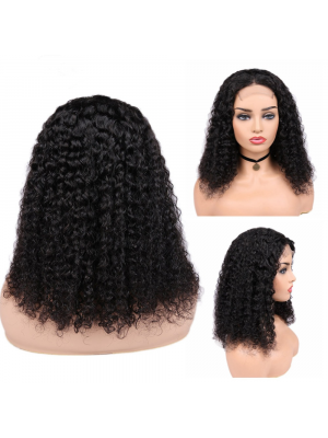 Magic Love Hair 300% Density Pre Plucked Human Hair Curly Closure Wig Made By Bundles And Closure/Frontal (MAGIC0201)