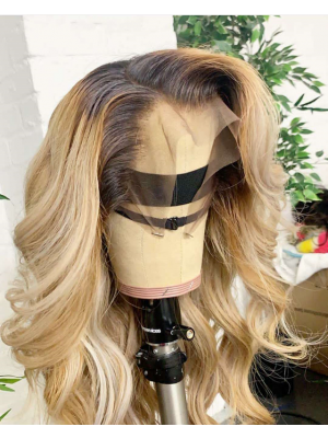Magic Love Human Virgin Hair Ombre Color Pre Plucked Lace Front Wig And Full Lace Wig For Black Woman Free Shipping (MAGIC0222)