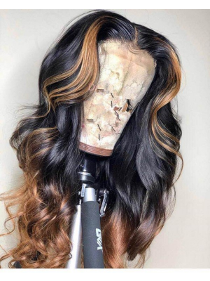 Magic Love Human Virgin Hair 13x6 1b/27 Lace Front Wig And Full Lace Wig For Black Woman Free Shipping (MAGIC0367)