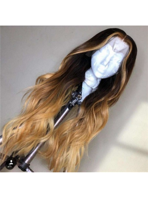 Magic Love Human Virgin Hair 13x6 1b/27 Lace Front Wig And Full Lace Wig For Black Woman Free Shipping (MAGIC0368)