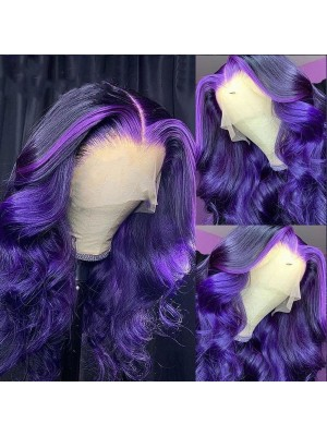 Magic Love Pre Plucked Factory Stock Color Purple  Human Hair Wigs Free Shipping (MAGIC0555)