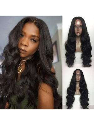 Magic Love Human Virgin Hair Pre Plucked Natural Color 13x6 Lace Front Wig For Black Woman Free Shipping(Magic0200)