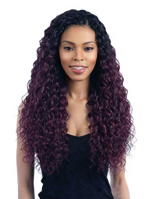 Magic Love Human Virgin Hair Ombre Loose Curl 1b/Purple Pre Plucked Lace Front Wig And Full Lace Wig For Black Woman Free Shipping (MAGIC0202)
