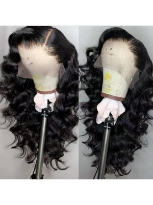 Magic Love Human Virgin Hair Loose Curl Pre Plucked Lace Front Wig For Black Woman Free Shipping(Magic0169)