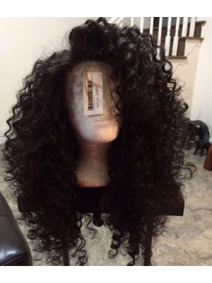 Magic Love Human Virgin Hair Curl Pre Plucked Lace Front Wig For Black Woman Free Shipping(Magic0208)