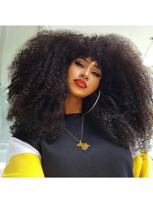 Magic Love Hair Human Hair Afro Kinky Lace Front  wigs & Full Lace Wig for black Women (Magic065)