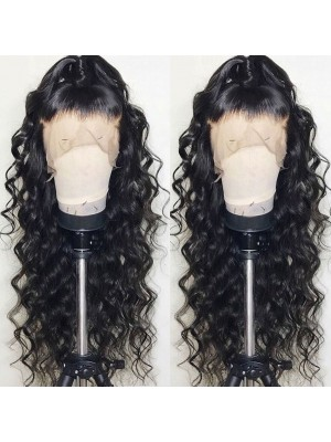 Magic Love Human Virgin Hair Loose Curl Pre Plucked Lace Wig For Black Woman Free Shipping(Magic092)