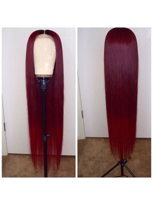 Magic Love Pre Plucked Factory Stock Burgundy Color 99J Human Hair wigs (MAGIC0111)
