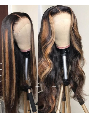 Magic Love Human Virgin Hair Ombre Color Pre Plucked Lace Front Wig And Full Lace Wig For Black Woman Free Shipping (MAGIC0307)