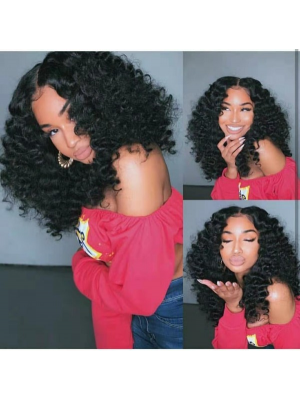 Magic Love Human Virgin Hair Pre Plucked Natural Color 13x6 Lace Front Wig For Black Woman Free Shipping(Magic0384)