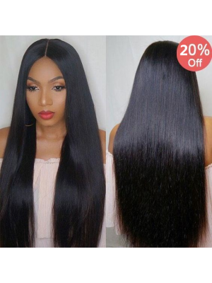 Magic Love Hair 300% Density Pre Plucked Human Hair  Straight Closure Wig Made By Bundles And Closure/Frontal (MAGIC0189)