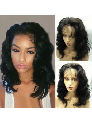 Magic Love Human Virgin Hair Bob Wavy Pre Plucked Lace Front &Full Lace Wig For Black Woman Free Shipping(Magic0331)
