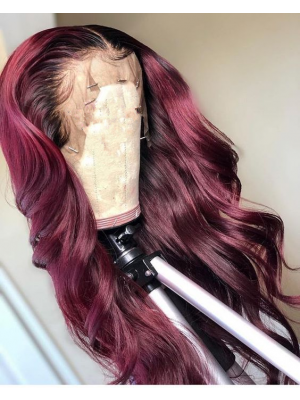 Magic Love Pre Plucked Factory Stock Burgundy Color 1B/99J Wave Human Hair wigs (MAGIC0246)