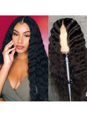 Magic Love Human Virgin Hair Wavy Pre Plucked Lace Wig For Black Woman Free Shipping(Magic0240)