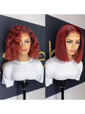 Magic Love Pre Plucked Factory Stock  Burgundy Ombre 1B 99J Human Hair Bob wigs (MAGIC0113)