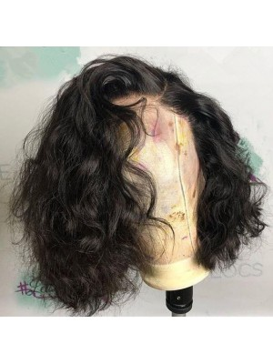 Magic Love Human Virgin Hair Loose Curl Pre Plucked Lace Wig For Black Woman Free Shipping(Magic0191)