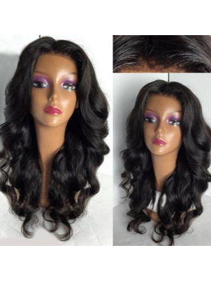 Magic Love Human Virgin Hair Wave Pre Plucked Lace Wig For Black Woman Free Shipping(Magic0332)