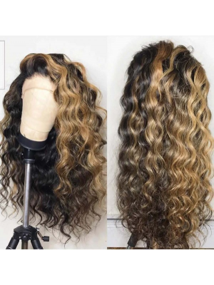 Magic Love Human Virgin Hair 13x6 Ombre Color Lace Front Wig And Full Lace Wig For Black Woman Free Shipping (MAGIC0358)