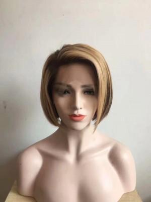 Magic Love Human Unprocessed Human Virgin Pre Plucked Ombre Bob Lace Wigs(MAGIC098)