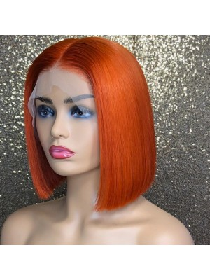 Magic Love Pre Plucked Lace Front Wig And Full Lace Wig  BOB STRAIGHT Orange Color Human Hair wigs (MAGIC0100)