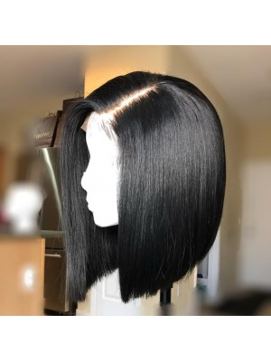 Magic Love Human Unprocessed Human Virgin Pre Plucked  Lace front Bob Wigs(MAGIC015)