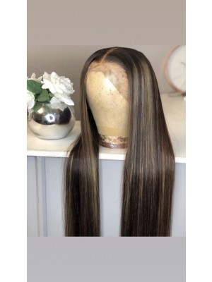 Magic Love Human Virgin Hair Highlight Brown  Pre Plucked Lace Front Wig And Full Lace Wig For Black Woman Free Shipping (MAGIC0330)