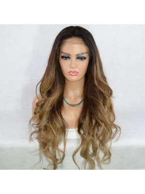 Magic Love Human Virgin Hair Ombre Color Pre Plucked Lace Front Wig And Full Lace Wig For Black Woman Free Shipping (MAGIC0253)