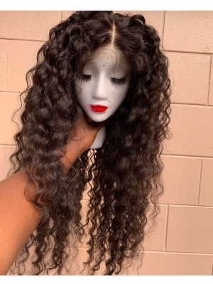 Magic Love Human Virgin Hair Pre Plucked Natural Color 13x6 Lace Front Wig For Black Woman Free Shipping(Magic0393)