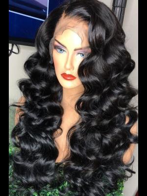 Magic Love Hair 300% Density Pre Plucked Human Hair Loose Wave Closure Wig Made By Bundles And Closure/Frontal (MAGIC0226)