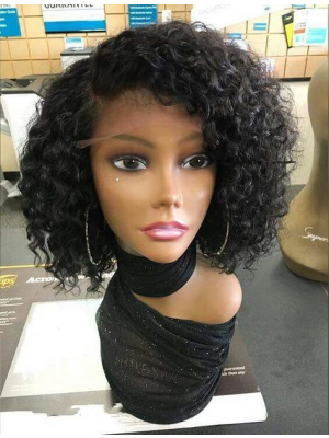 Magic Love Human Virgin Hair Curl Pre Plucked Lace Front Wig For Black Woman Free Shipping(Magic0209)