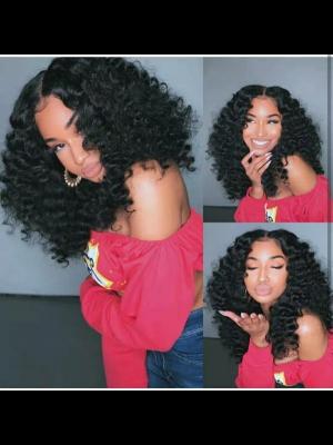 Magic Love Hair 300% Density Pre Plucked Human Hair Loose Wave Closure Wig Made By Bundles And Closure/Frontal (MAGIC0276)