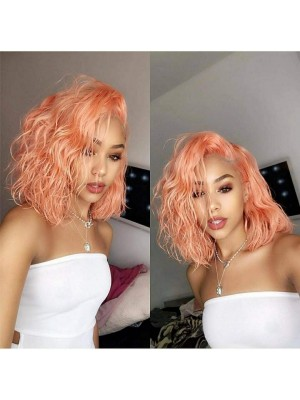 Magic Love Human Virgin Hair Ice Cream Pink Summer Bob Style Pre Plucked Lace Front Wig And Full Lace Wig For Black Woman Free Shipping (MAGIC0268)