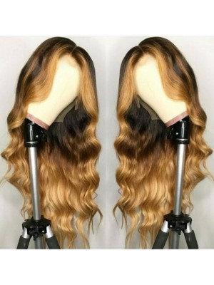 Magic Love Human Virgin Hair Ombre Pre Plucked 13x6 Lace Front Wig  For Black Woman Free Shipping (MAGIC0284)