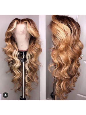 Magic Love Human Virgin Hair 13x6 Ombre Color Lace Front Wig And Full Lace Wig For Black Woman Free Shipping (MAGIC0357)