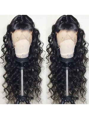Magic Love Human Virgin Hair Loose Wave Pre Plucked HD SWISS Lace Wig 13X4 150% Density For Black Woman Free Shipping(Magic0496)