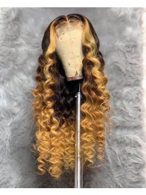 Magic Love Human Virgin Hair Brown Pre Plucked Lace Front Wig And Full Lace Wig For Black Woman Free Shipping (MAGIC0524)