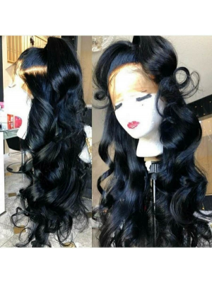 Magic Love Hair 300% Density Pre Plucked Human Hair Loose Wave Closure Wig Made By Bundles And Closure/Frontal (MAGIC0245)