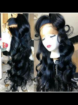 Magic Love Hair 300% Density Pre Plucked Human Hair Loose Wave Closure Wig Made By Bundles And Closure/Frontal (MAGIC0245)