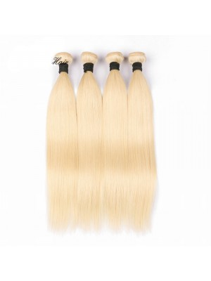 Magic Love 4 Bundles With(or not) Closure/Frontal 613 Color Brazilian Virgin Human Hair Pure Blonde Hair Straight Hair Wefts(magic090)