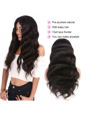 Magic Love Hair 130% density Body Wave Lace Front Wig &Full Lace Wig 100%Virgin Human Hair for African American women(Magic007)