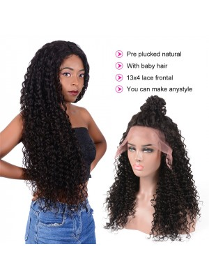 Magic Love Human Virgin Hair Kinky Curl Pre Plucked Lace Wigs For Black Woman Free Shipping(Magic005)