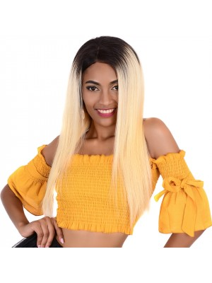 Magic Love Hair Pre Plucked Brazilian Virgin Hair Color 1B/ 613 Lace Front Wig and Full Lace Wig(magic017)