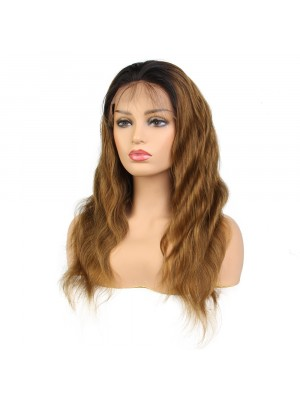 Magic Love #1b/27 Pre Plucked Lace Front & Full Lace Wig Factory Stock Wavy Human Hair wigs (MAGIC072)