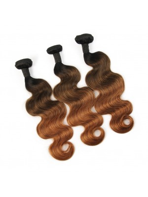 Magic Love Ombre 3 Bundles With(or not) Closure/Frontal Brazilian Virgin Human Hair Ombre Color 1B/4/30 Hair(magic0149)