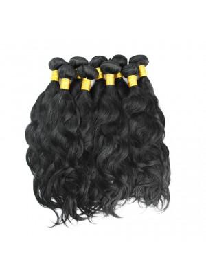 Magic Love Human Natural Wave Human Hair Weave Bundle 3Pcs  Virgin Hair Extension Natural Black Can Be Dyed Bleached Hair Weft(MAGIC026)